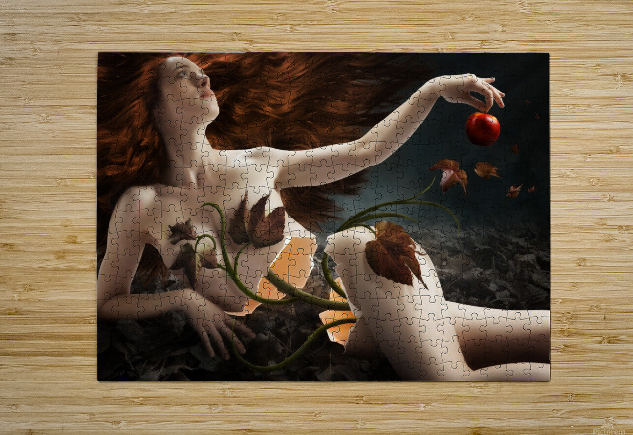 Eve  HD Metal print with Floating Frame on Back