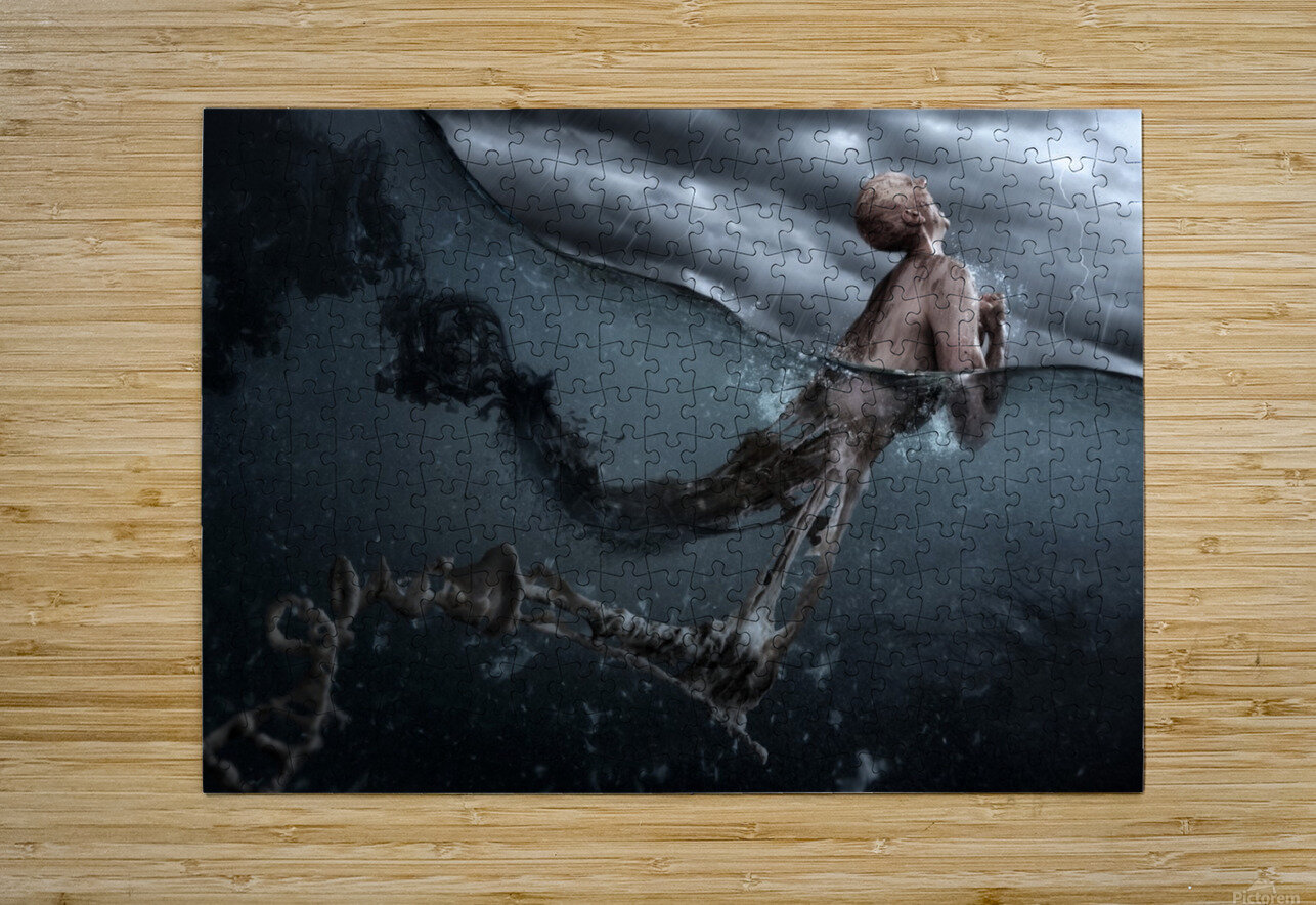 Primordial Soup  HD Metal print with Floating Frame on Back