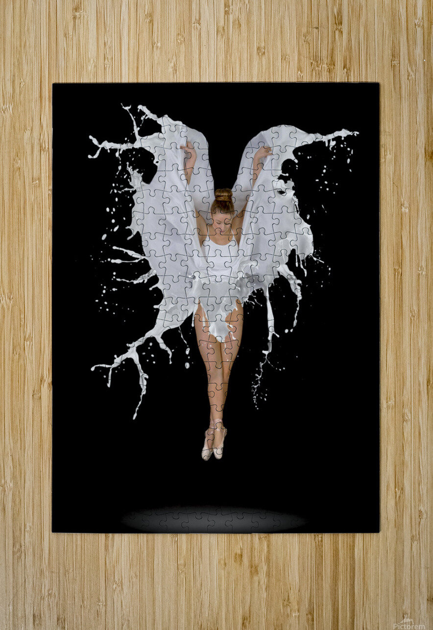 Liquidize  HD Metal print with Floating Frame on Back