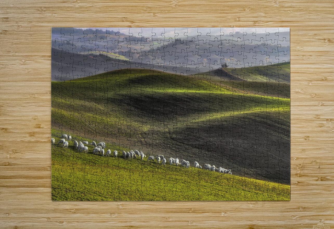 pastoral  HD Metal print with Floating Frame on Back