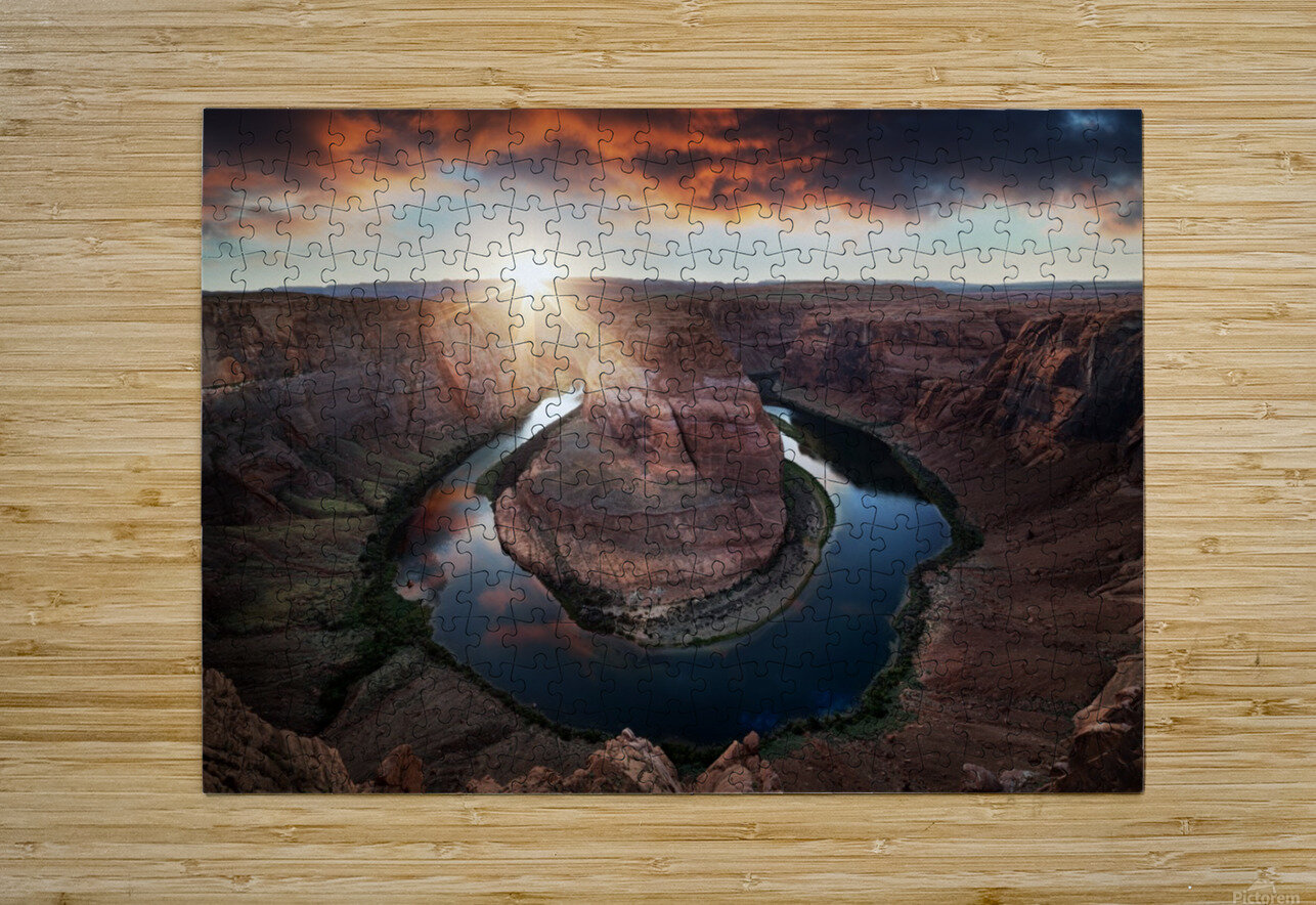 Horseshoe Bend  HD Metal print with Floating Frame on Back