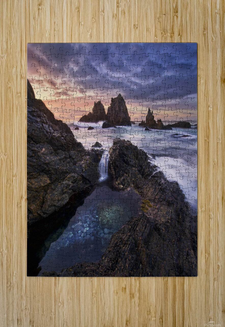 Meeting of Waters  HD Metal print with Floating Frame on Back