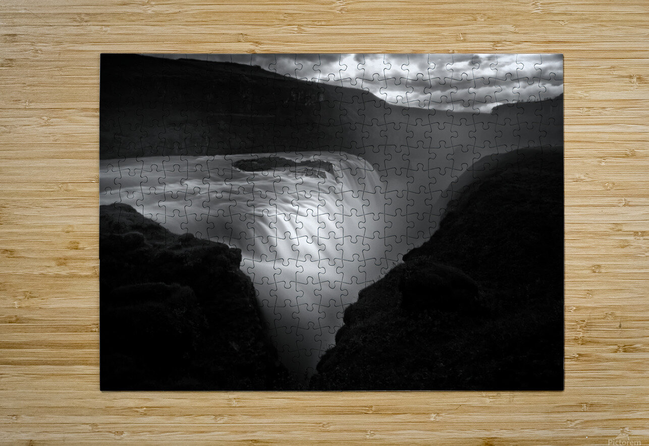 Gullfoss  HD Metal print with Floating Frame on Back