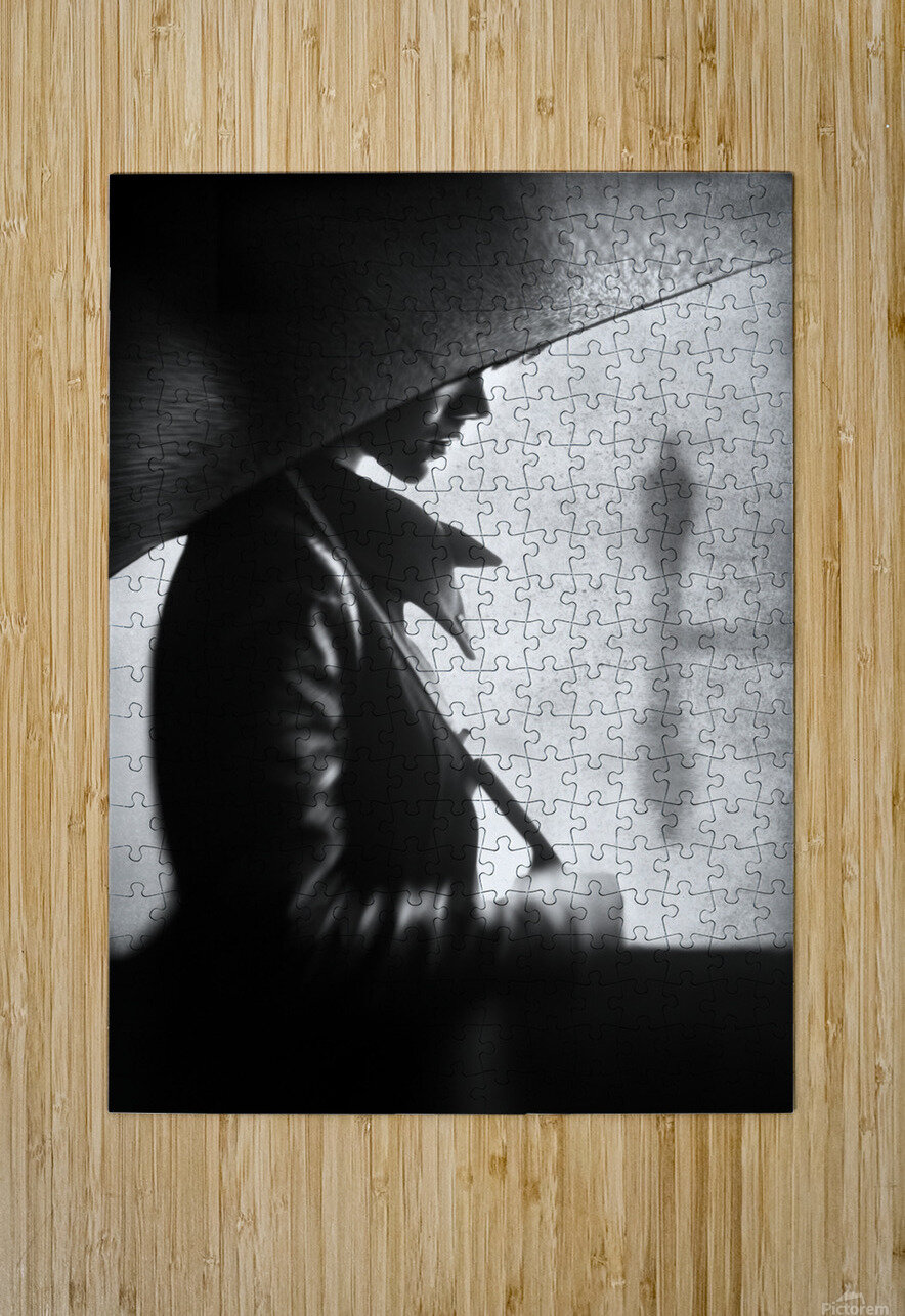rain please tell him...  HD Metal print with Floating Frame on Back