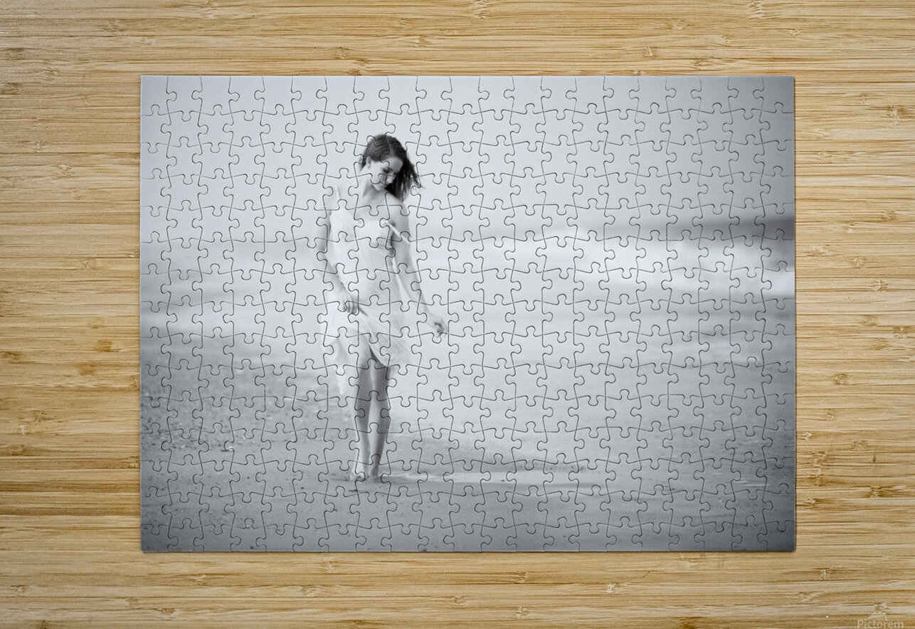 A Walk on the Beach  HD Metal print with Floating Frame on Back