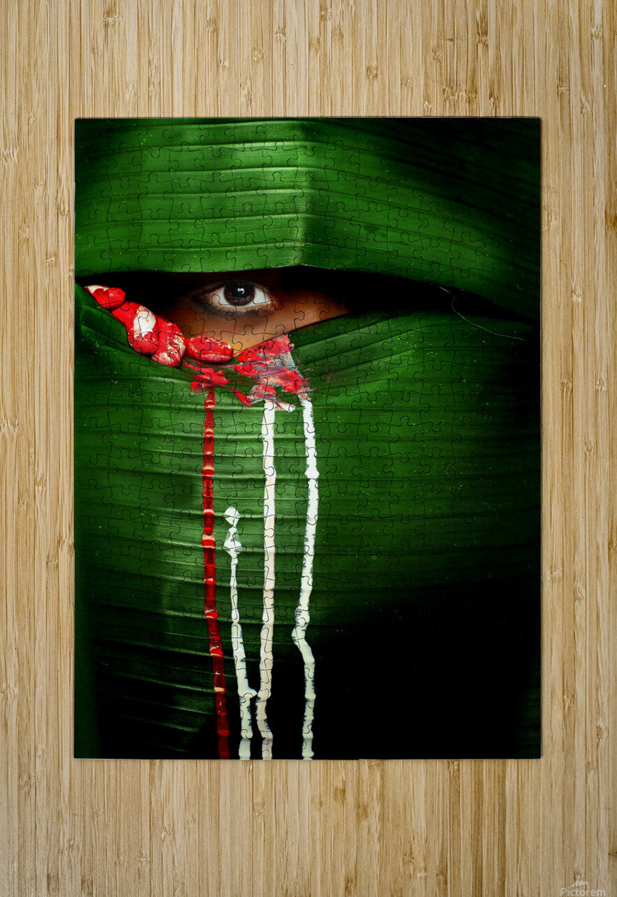 Mysterious Eye  HD Metal print with Floating Frame on Back