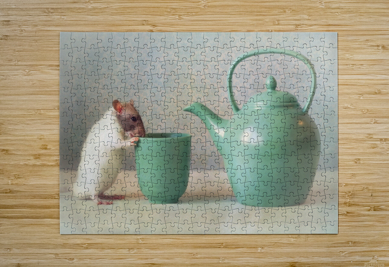 The Teapot  HD Metal print with Floating Frame on Back