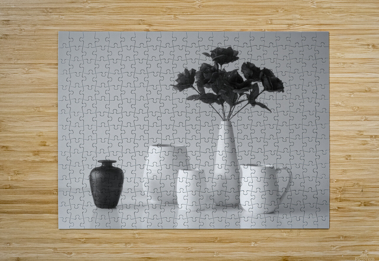 Still Life in Black and White  HD Metal print with Floating Frame on Back