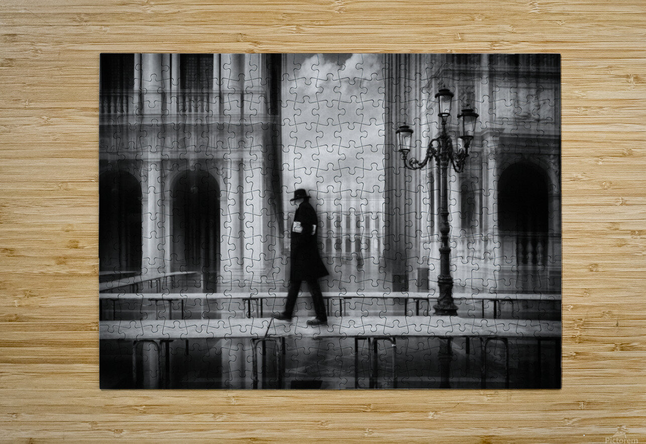 dry footed walk  HD Metal print with Floating Frame on Back