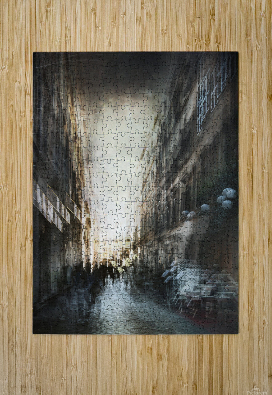 Street  HD Metal print with Floating Frame on Back