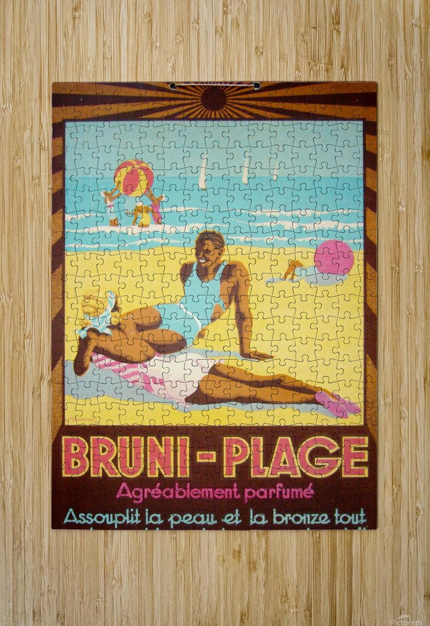 Bruni Plage  HD Metal print with Floating Frame on Back