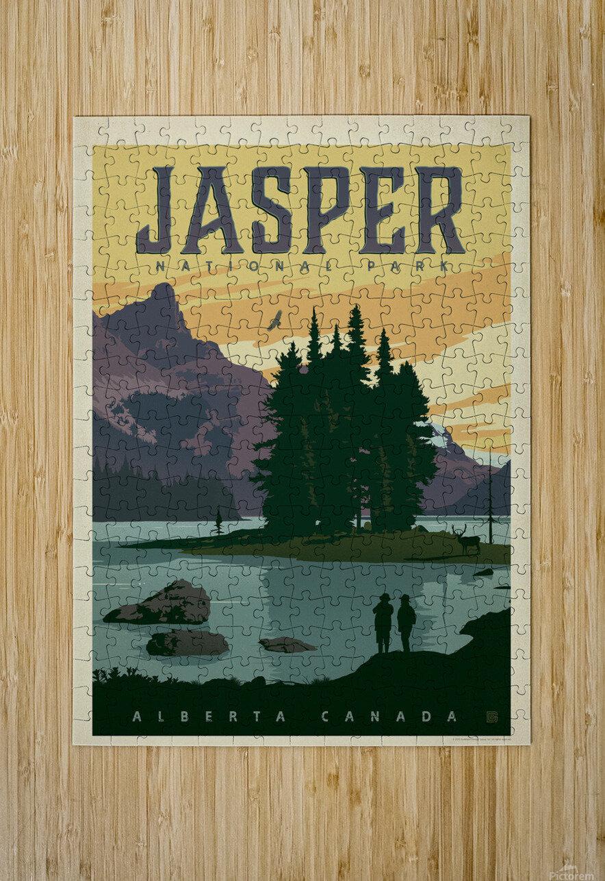 Jasper National Park  HD Metal print with Floating Frame on Back