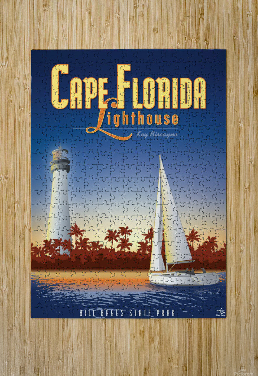 Cape Florida Lighthouse  HD Metal print with Floating Frame on Back