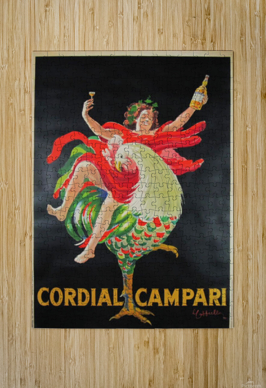 Cordial Campari  HD Metal print with Floating Frame on Back