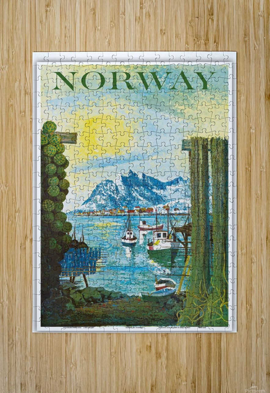 Norway  HD Metal print with Floating Frame on Back