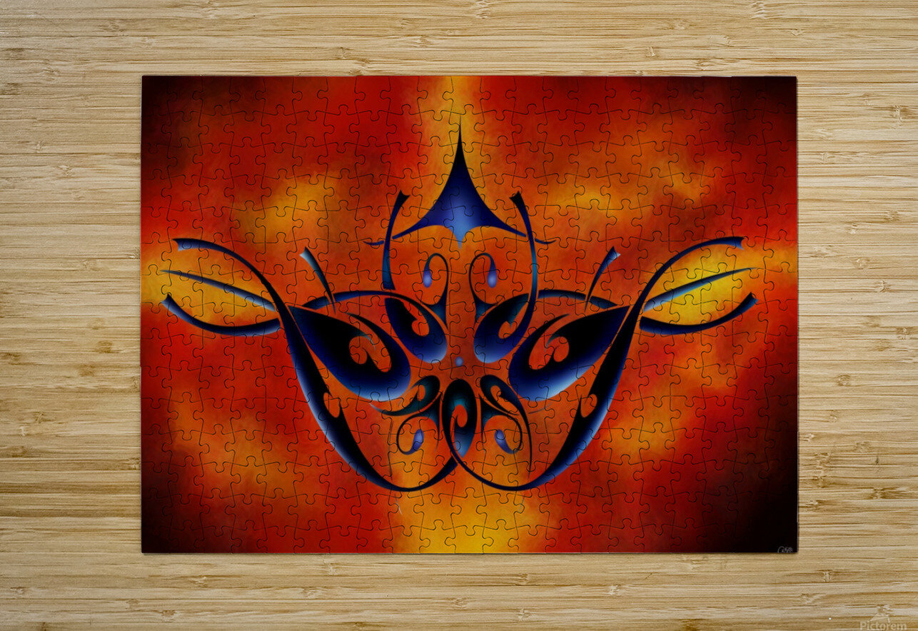 Tattoomissia V1 - firebird  HD Metal print with Floating Frame on Back