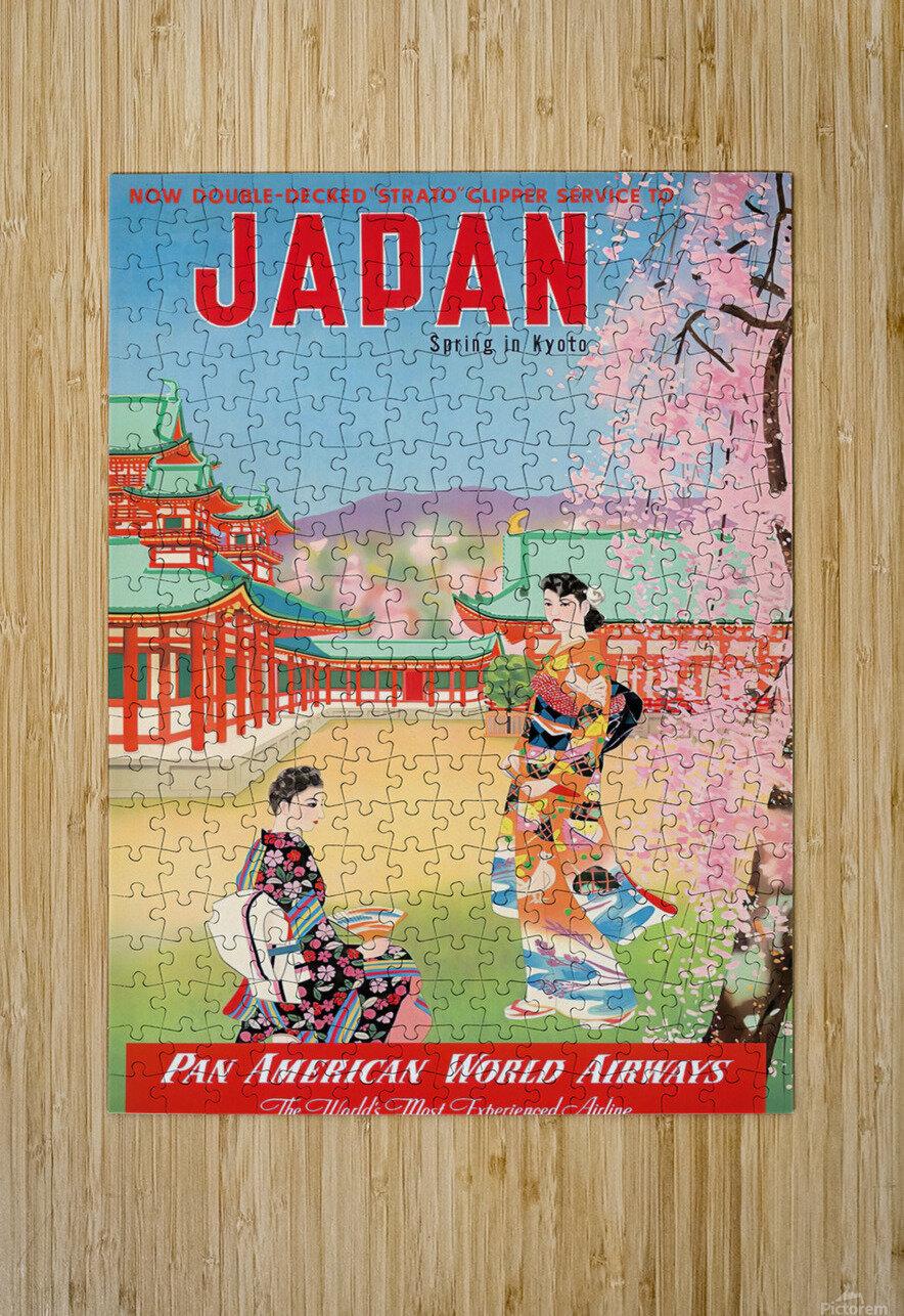 Pan American World Airways Japan Spring in Kyoto  HD Metal print with Floating Frame on Back