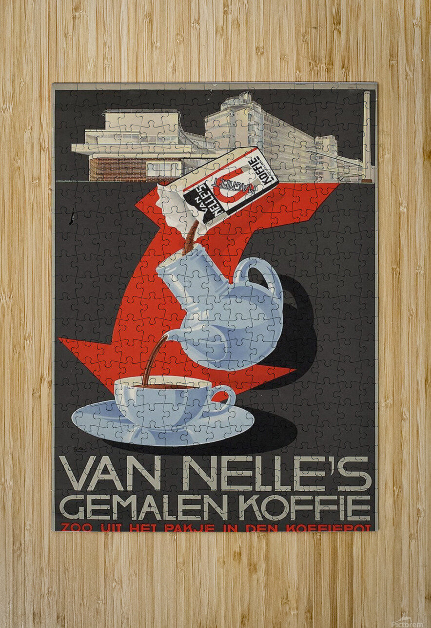 Van Nelle German Koffie  HD Metal print with Floating Frame on Back