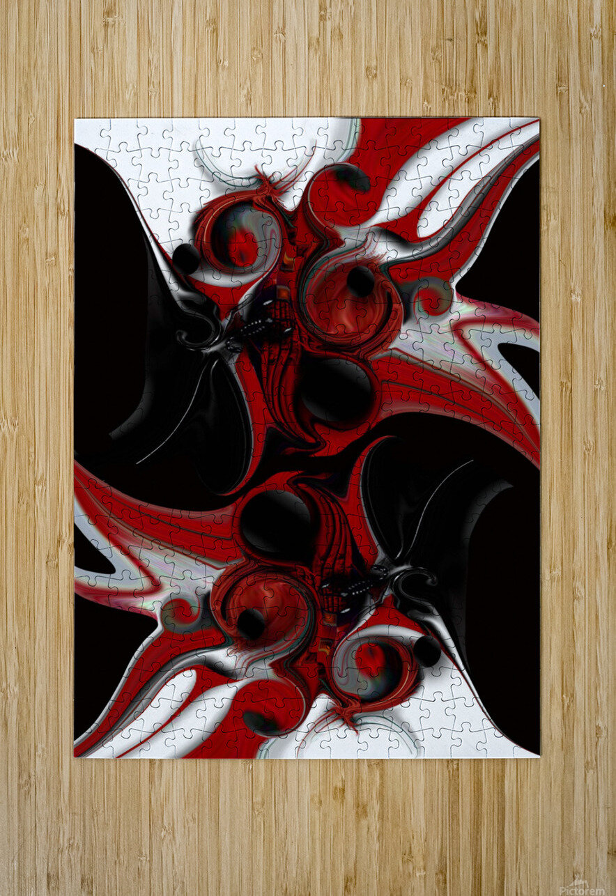 Act with Intuitive Creation  HD Metal print with Floating Frame on Back