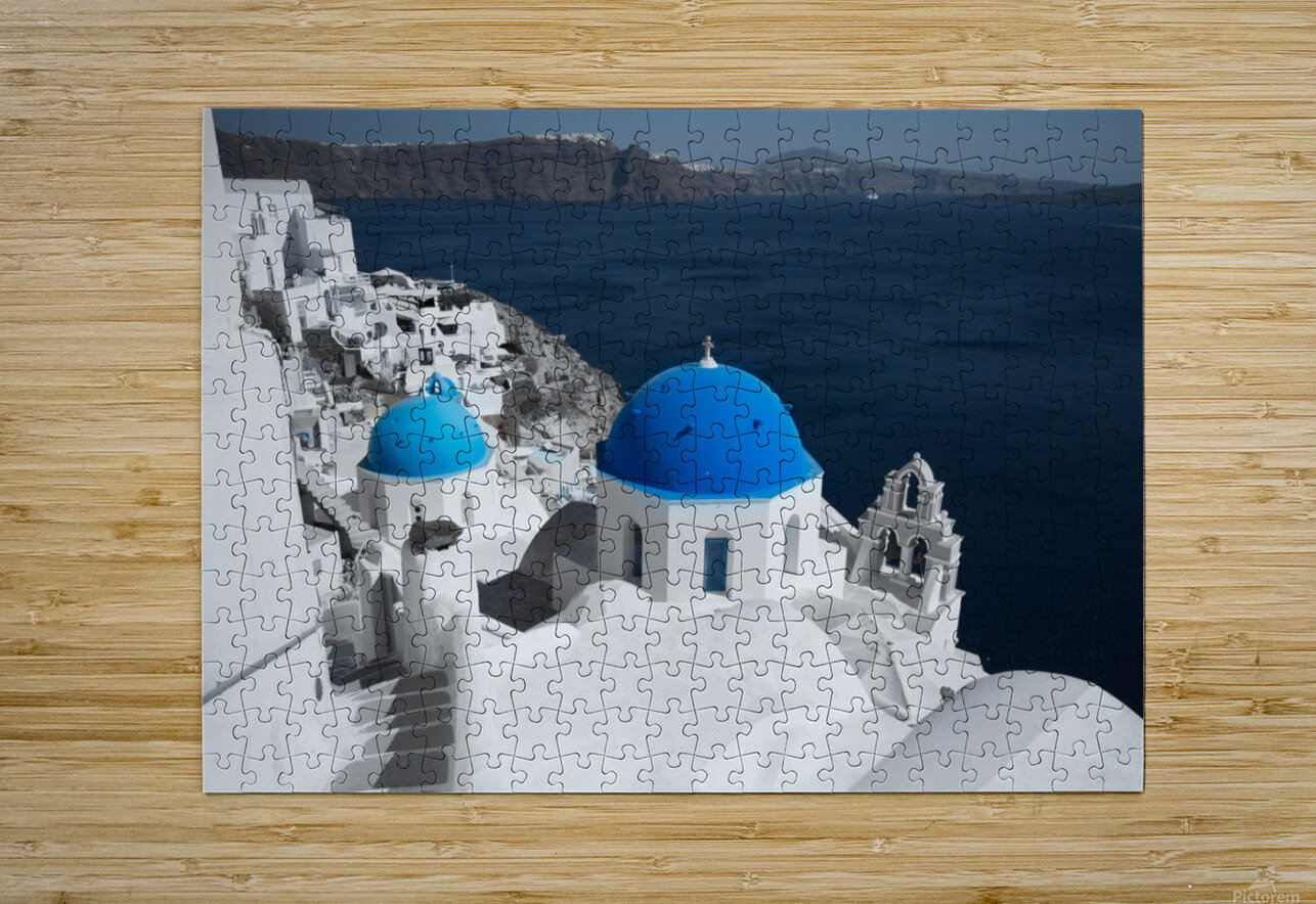 Blue Church  HD Metal print with Floating Frame on Back