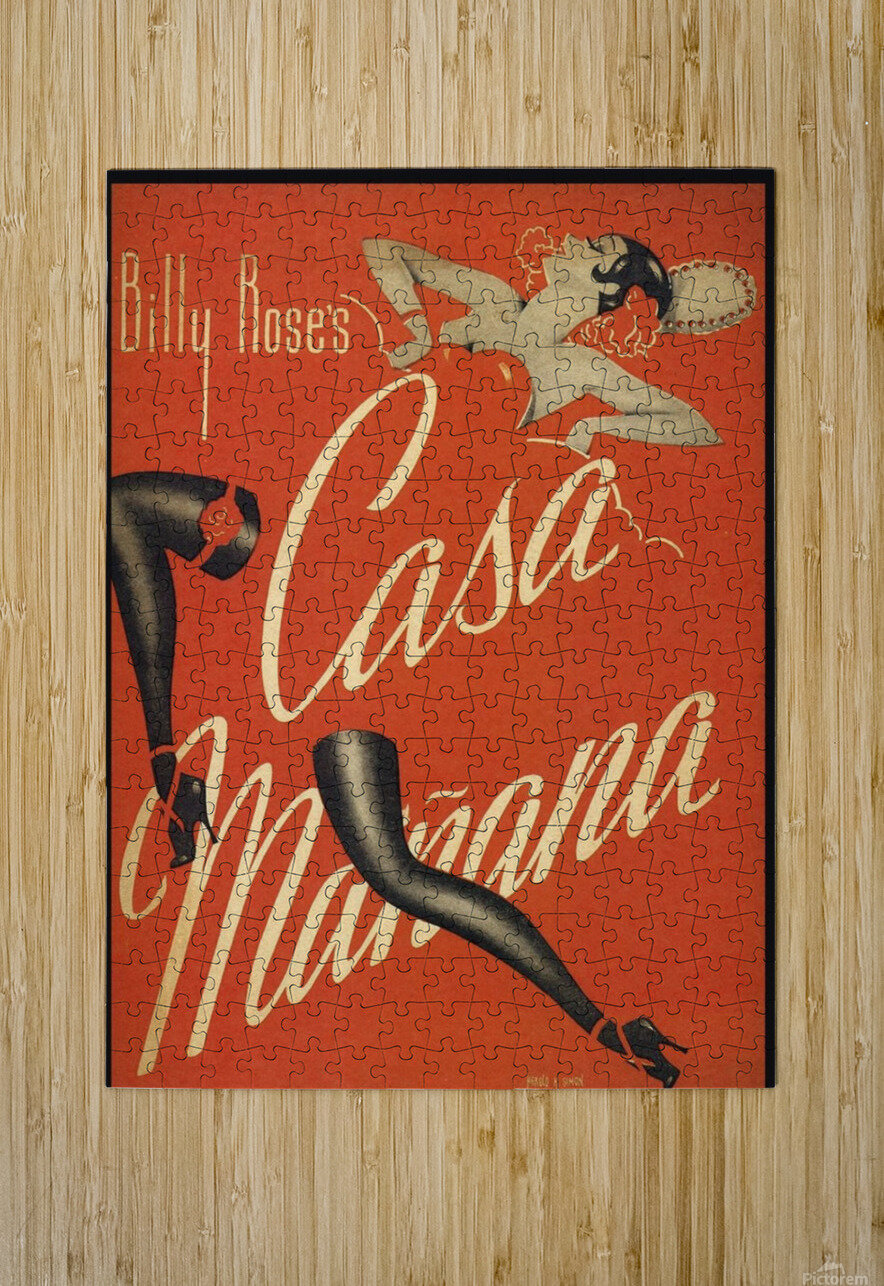 Billy Rose's Casa Manana  HD Metal print with Floating Frame on Back