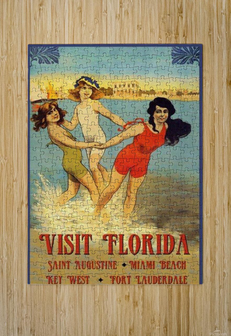 Visit Florida  HD Metal print with Floating Frame on Back