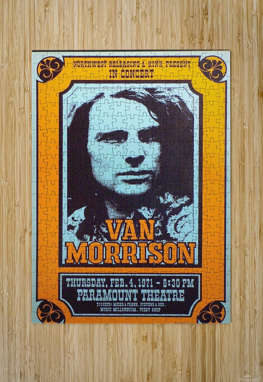 Van Morrison  HD Metal print with Floating Frame on Back