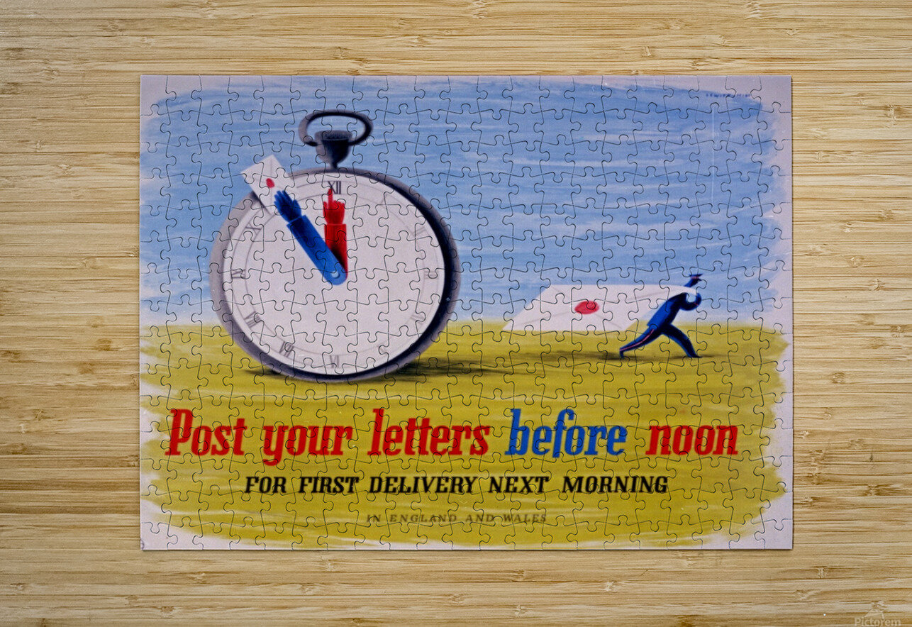 Post your letters before noon  HD Metal print with Floating Frame on Back