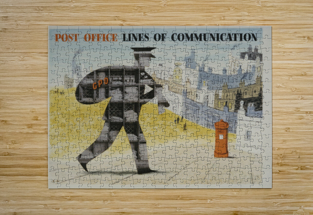 Post Office Lines of Communication  HD Metal print with Floating Frame on Back