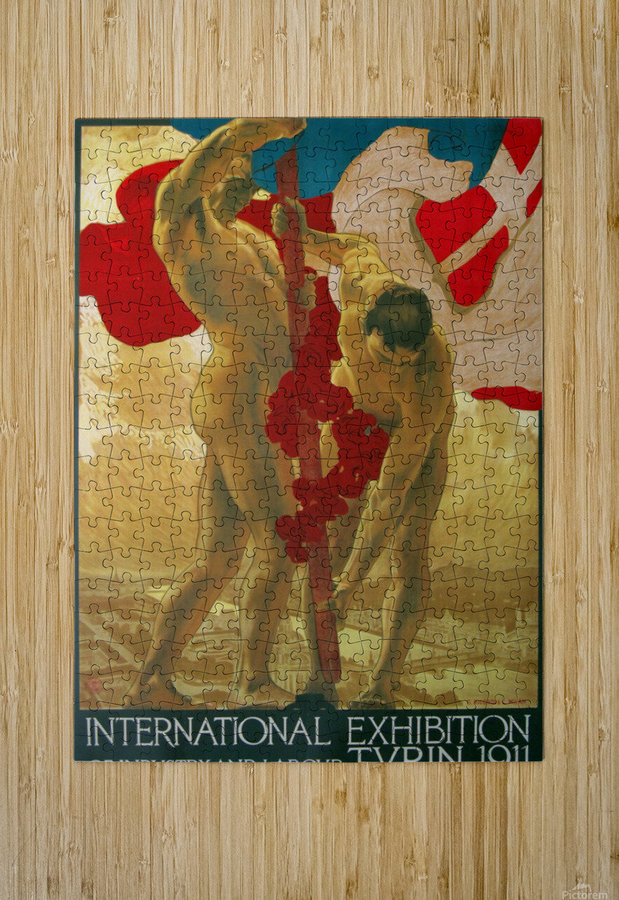 International Exhibition of Industry and Labour Turin 1911  HD Metal print with Floating Frame on Back