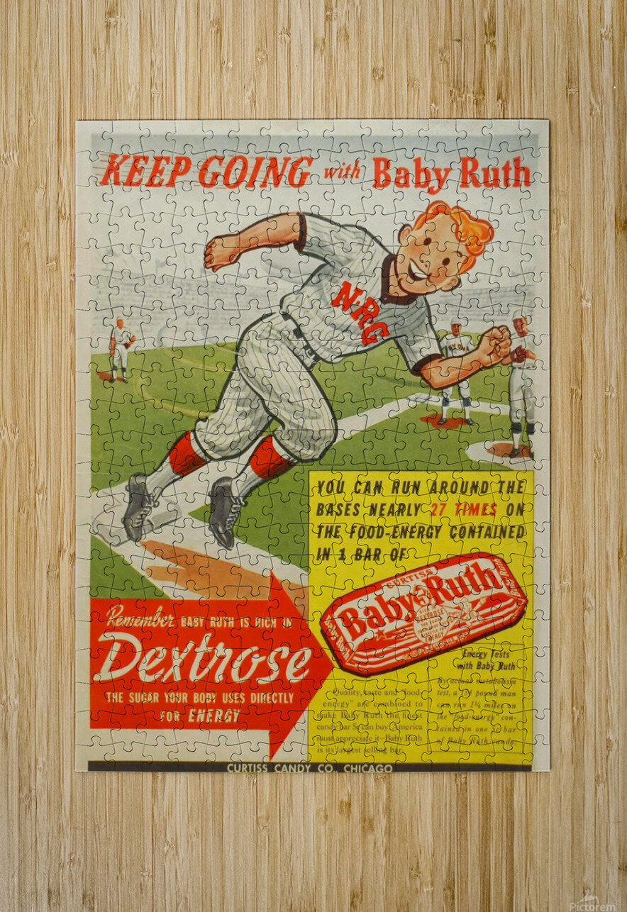 Keep going with Baby Ruth  HD Metal print with Floating Frame on Back