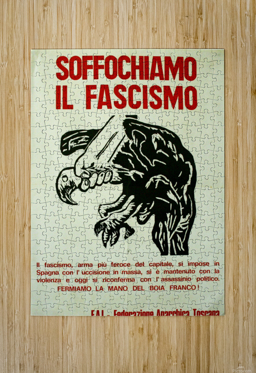 Suffocate fascism  HD Metal print with Floating Frame on Back