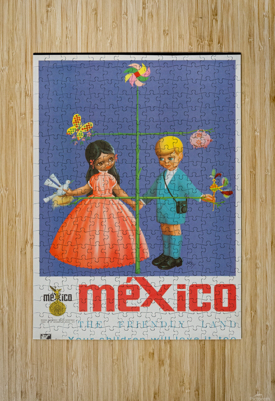 Mexico The friendly land  HD Metal print with Floating Frame on Back