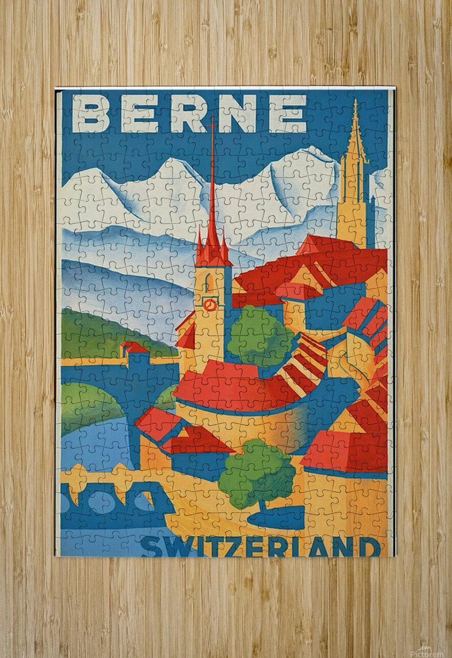Berne Switzerland  HD Metal print with Floating Frame on Back