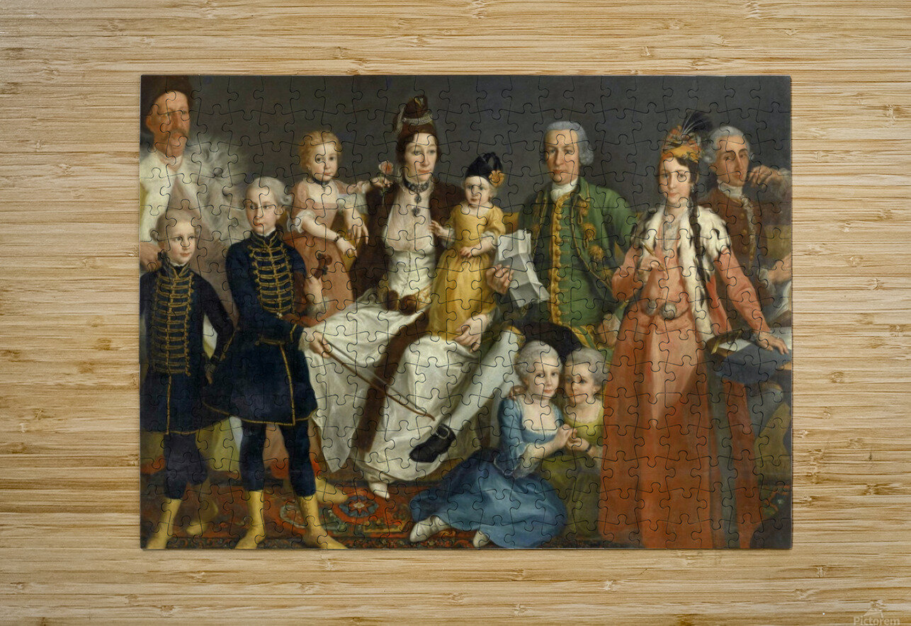 David George van Lennep and Family  HD Metal print with Floating Frame on Back