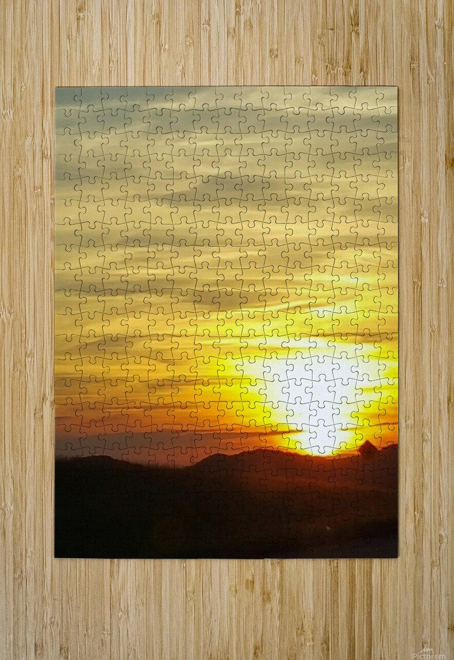 Vanishing Sun  HD Metal print with Floating Frame on Back