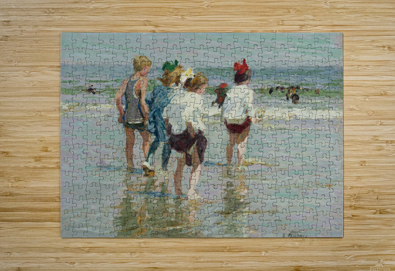 Summer day, Brighton Beach  HD Metal print with Floating Frame on Back