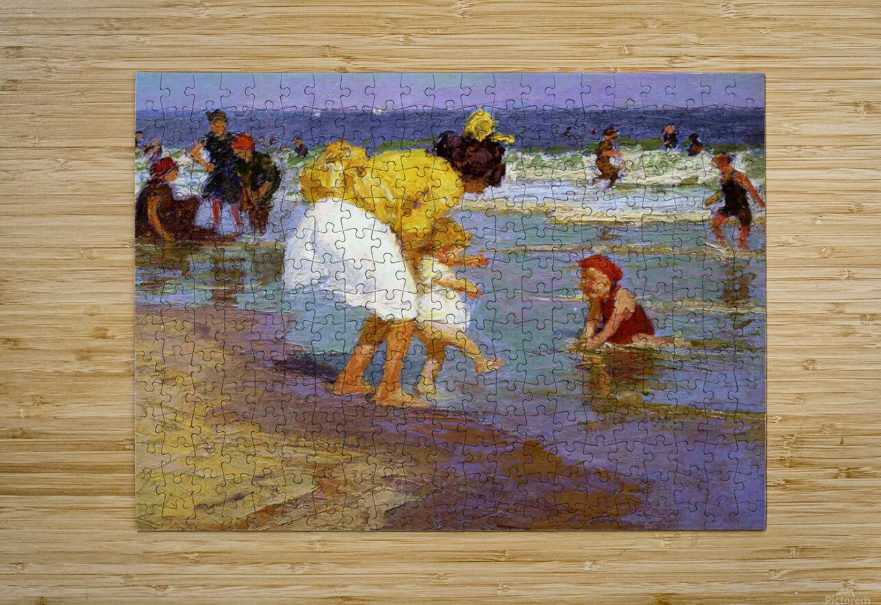 At the Seashore  HD Metal print with Floating Frame on Back