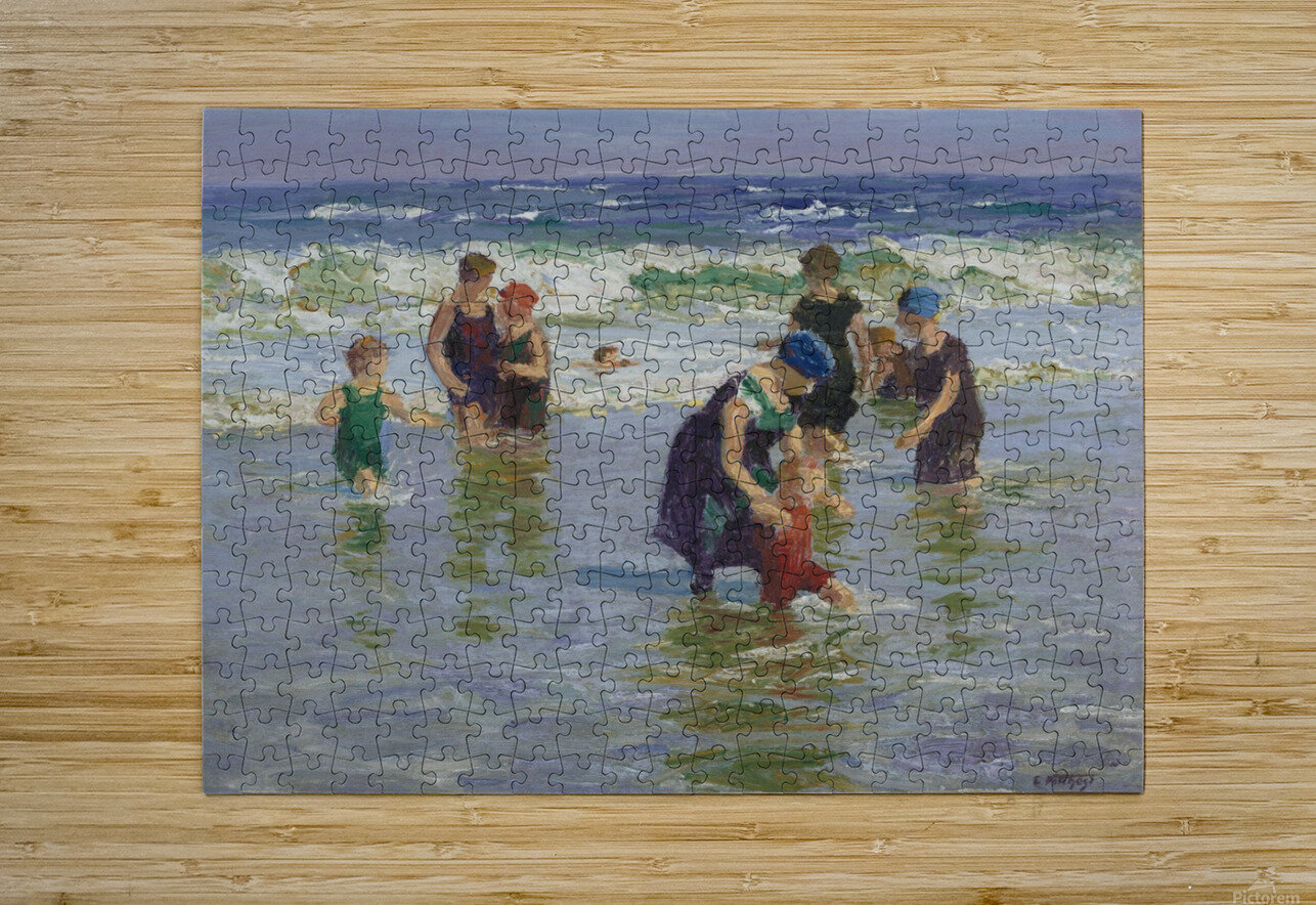 People enjoying the sea  HD Metal print with Floating Frame on Back
