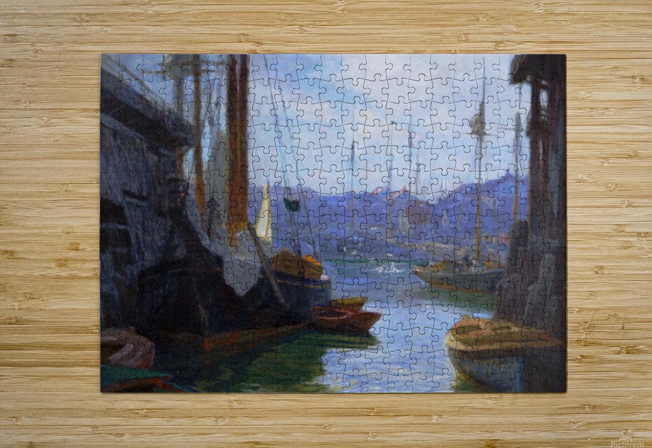 Gloucester Harbor  HD Metal print with Floating Frame on Back