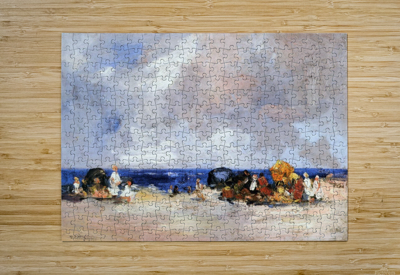 A Day at the Beach  HD Metal print with Floating Frame on Back