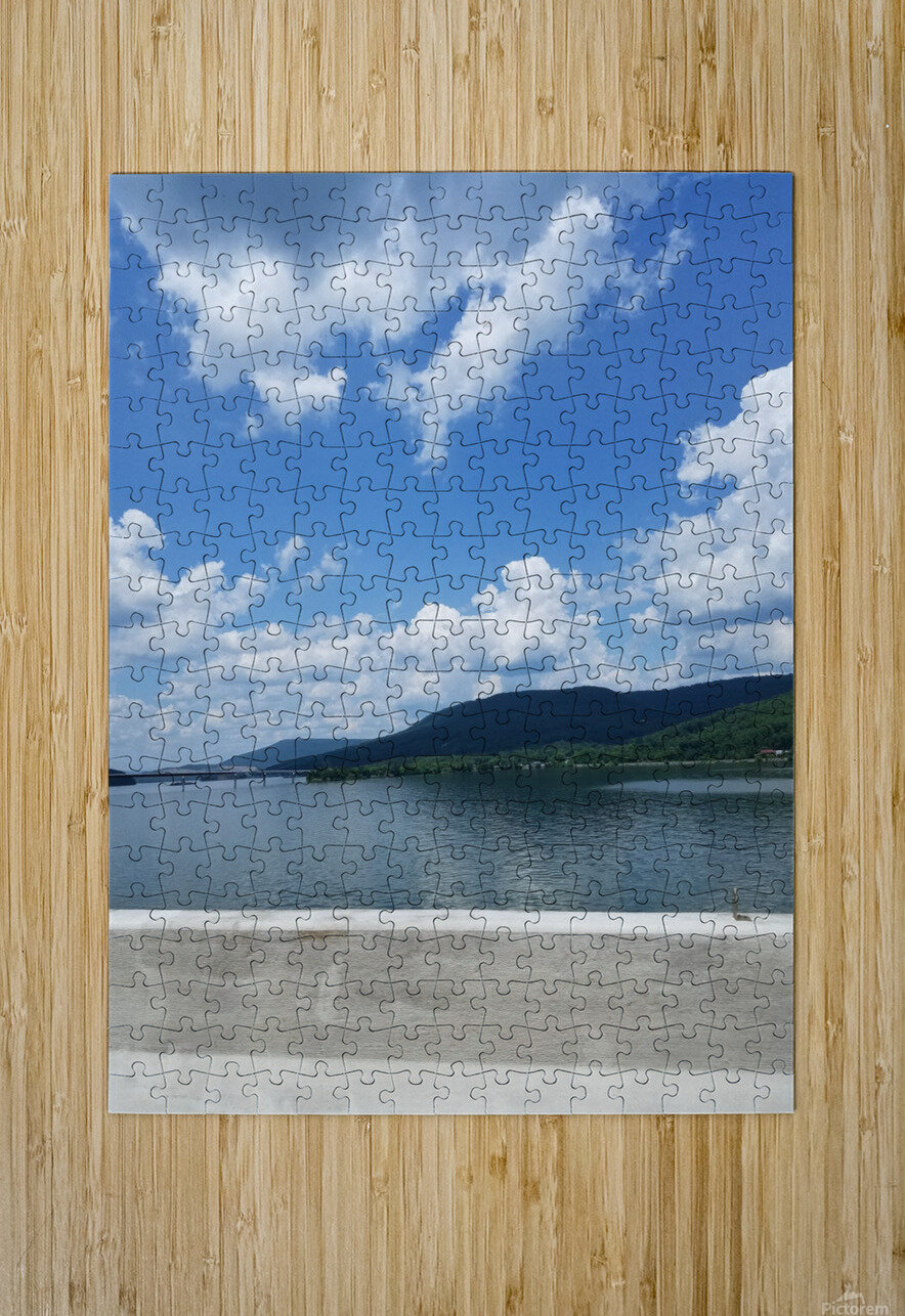 Looking Out Over Water  HD Metal print with Floating Frame on Back