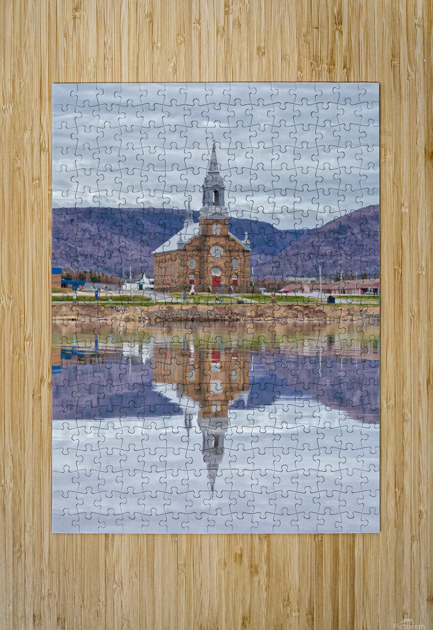 St. Pierres Church - Cheticamp Ns  HD Metal print with Floating Frame on Back