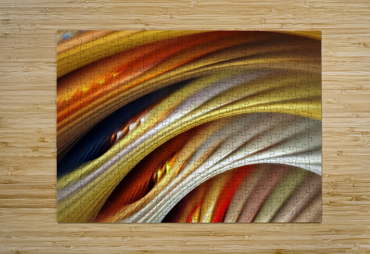 Colors Stripes Abstract Background Strings  HD Metal print with Floating Frame on Back