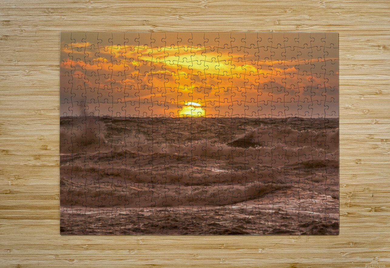 Fire & Water II  HD Metal print with Floating Frame on Back