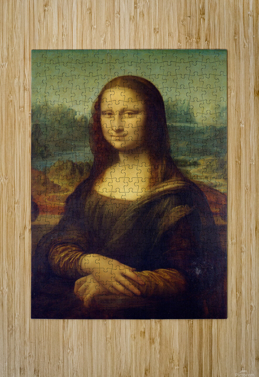 Mona Lisa Leonardo Da Vinci La Gioconda Oil Painting  HD Metal print with Floating Frame on Back
