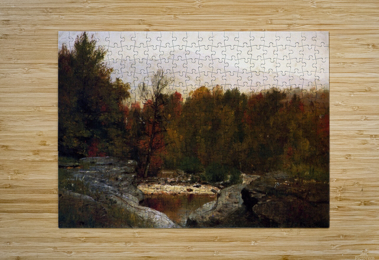 Autumn, Catskill Mountains in the Mist  HD Metal print with Floating Frame on Back