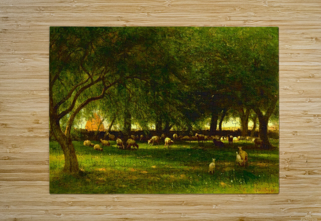 Noon in the Orchard  HD Metal print with Floating Frame on Back