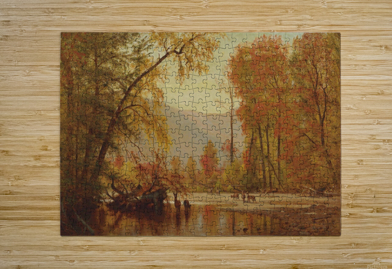 Autumn on the Delaware  HD Metal print with Floating Frame on Back