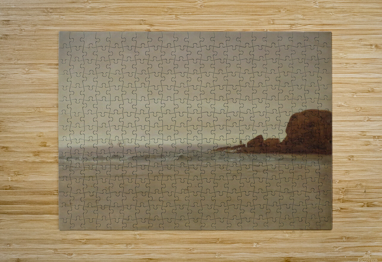 Beach and Rocks  HD Metal print with Floating Frame on Back